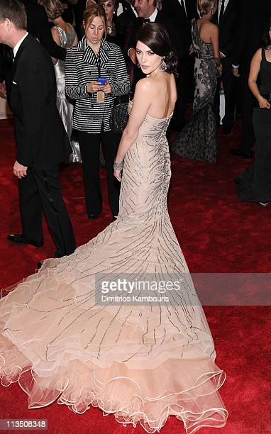 Actress Ashley Greene attends the 'Alexander McQueen Savage Beauty' Costume Institute Gala at The Metropolitan Museum of Art on May 2 2011 in New...