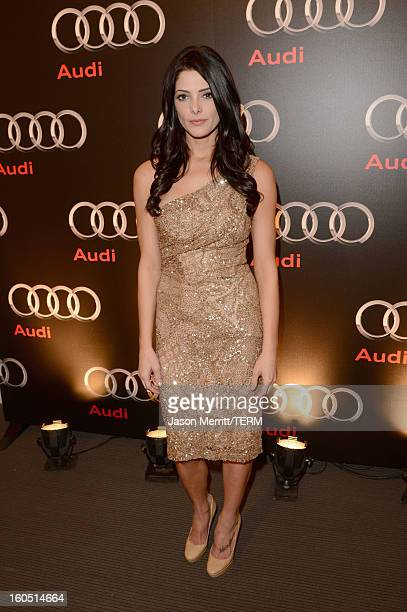 Actress Ashley Greene attends the Audi Forum New Orleans at the Ogden Museum of Southern Art on February 1 2013 in New Orleans Louisiana
