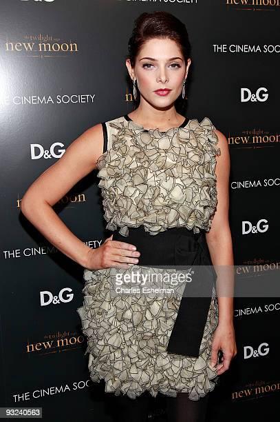 Actress Ashley Greene attends the Cinema Society screening of 'The Twilight Saga New Moon' at Landmark's Sunshine Cinema on November 19 2009 in New...