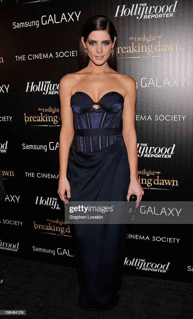 Actress Ashley Greene attends The Cinema Society with The Hollywood Reporter And Samsung Galaxy screening of 'The Twilight Saga: Breaking Dawn Part 2' on November 15, 2012 in New York City.