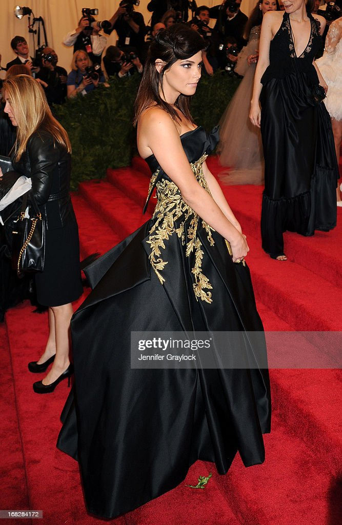Actress Ashley Greene attends the Costume Institute Gala for the 'PUNK: Chaos to Couture' exhibition at the Metropolitan Museum of Art on May 6, 2013 in New York City.