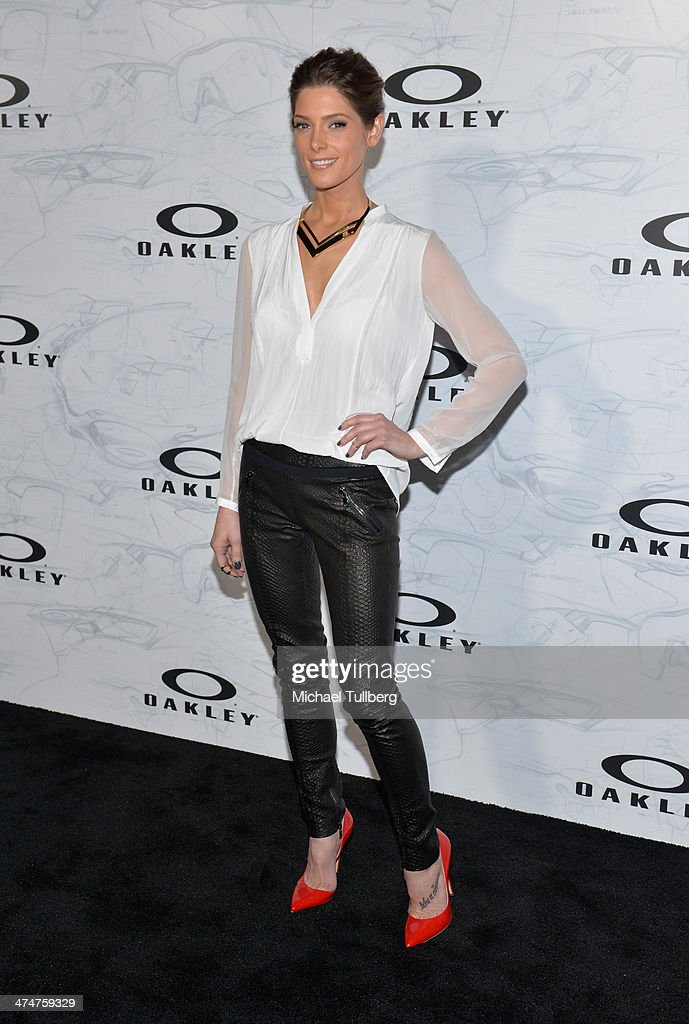 Actress <a gi-track='captionPersonalityLinkClicked' href=/galleries/search?phrase=Ashley+Greene&family=editorial&specificpeople=781552 ng-click='$event.stopPropagation()'>Ashley Greene</a> attends the Oakley's Disruptive By Design Launch Event at Red Studios on February 24, 2014 in Los Angeles, California.