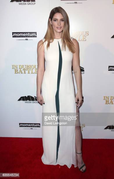 Actress Ashley Greene attends the premiere of Momentum Pictures' 'In Dubious Battle' at ArcLight Hollywood on February 15 2017 in Hollywood California