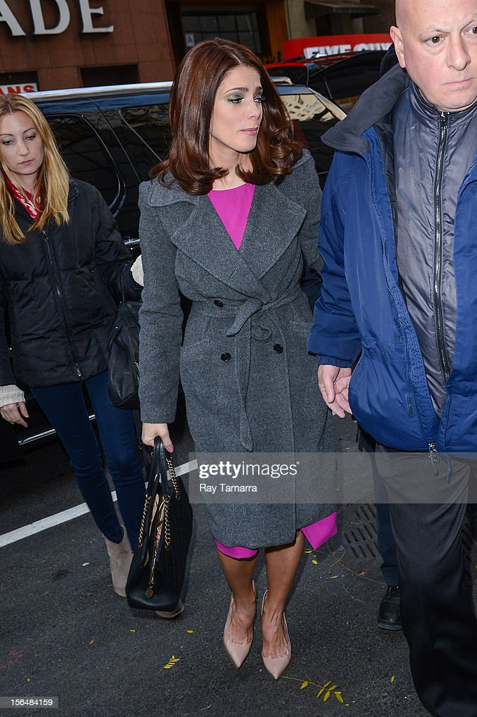 Actress Ashley Greene enters the 'Today Show' taping at the NBC Rockefeller Center Studios on November 15, 2012 in New York City.
