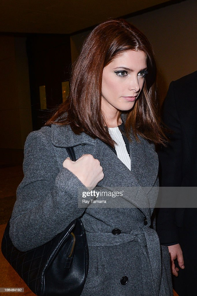 Actress Ashley Greene leaves the MTV Studios on November 15, 2012 in New York City.
