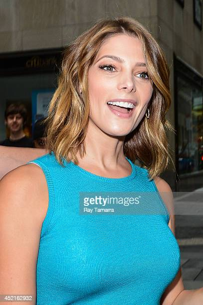 Actress Ashley Greene leaves the 'Today Show' taping at the NBC Rockefeller Center Studio on July 14 2014 in New York City