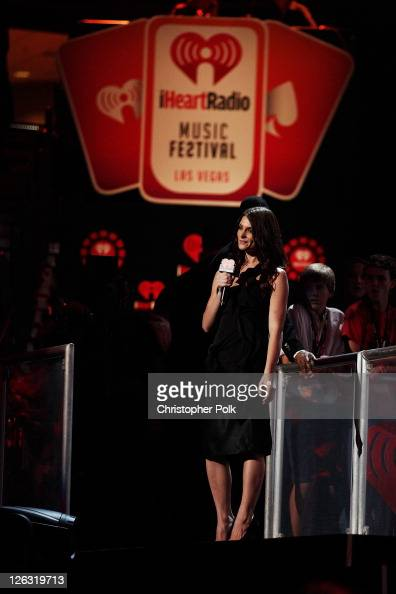 Actress Ashley Greene performs onstage at the iHeartRadio Music Festival held at the MGM Grand Garden Arena on September 24 2011 in Las Vegas Nevada