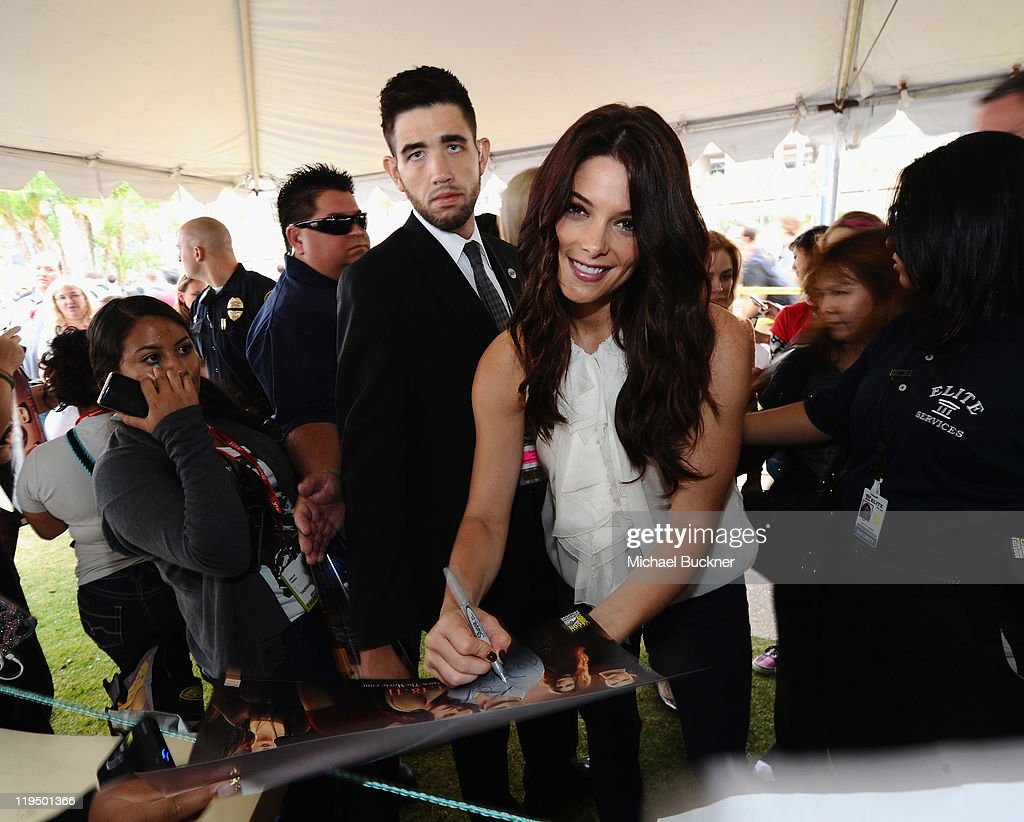 Actress Ashley Greene signs autographs for fans at 'The Twilight Saga Breaking Dawn Part 1' Fan WakeUp Call during 2011 ComicCon on July 21 2011 in...