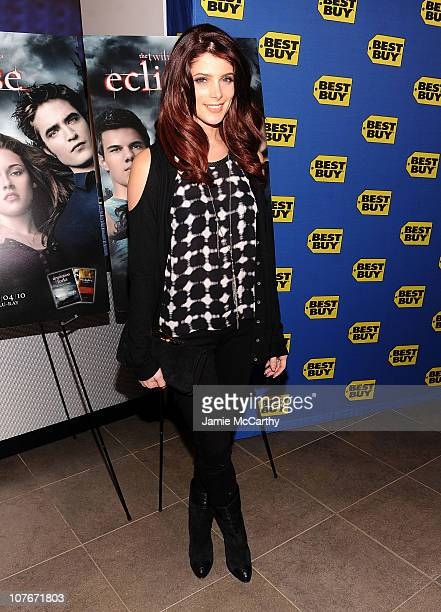Actress Ashley Greene signs copies of 'The Twilight Saga Eclipse' at Best Buy on December 17 2010 in New York City