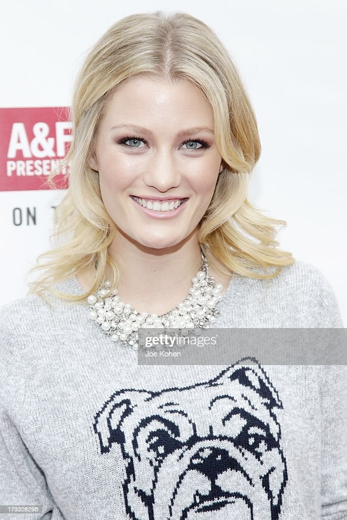 Actress <a gi-track='captionPersonalityLinkClicked' href=/galleries/search?phrase=Ashley+Hinshaw&family=editorial&specificpeople=7175518 ng-click='$event.stopPropagation()'>Ashley Hinshaw</a> attends Abercrombie & Fitch Co. presents their 2013 'Stars On The Rise!' at The Grove on July 11, 2013 in Los Angeles, California.