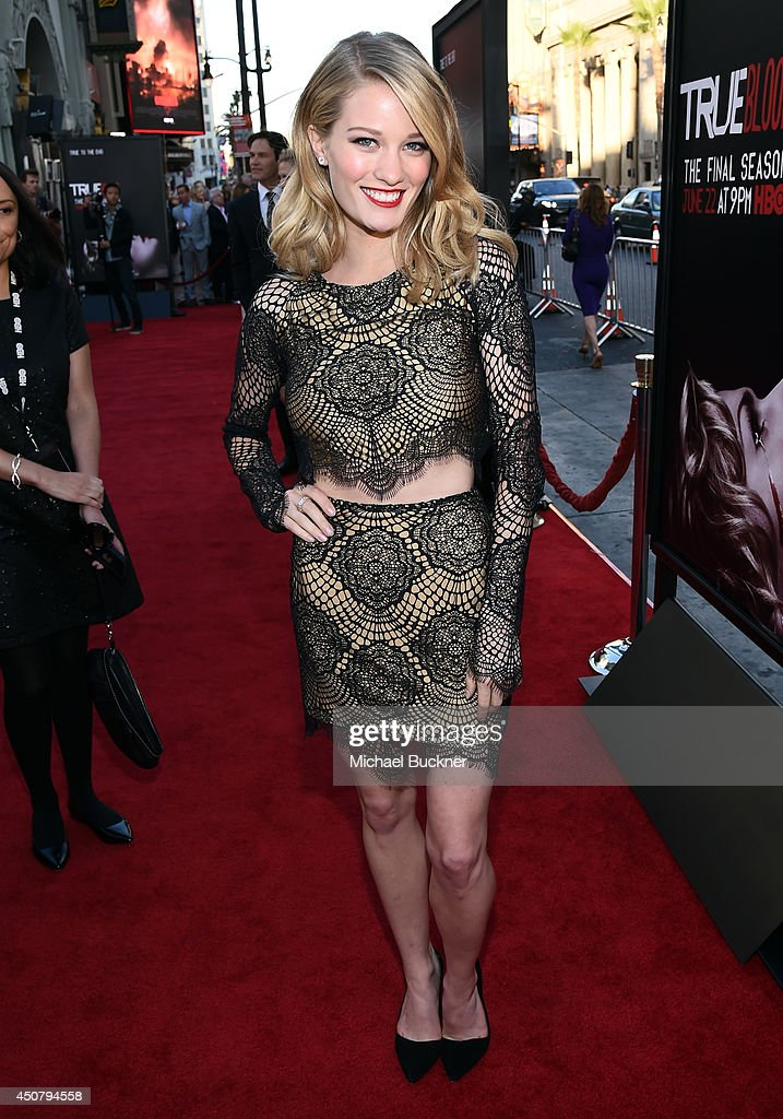 Actress <a gi-track='captionPersonalityLinkClicked' href=/galleries/search?phrase=Ashley+Hinshaw&family=editorial&specificpeople=7175518 ng-click='$event.stopPropagation()'>Ashley Hinshaw</a> attends Premiere Of HBO's 'True Blood' Season 7 And Final Season at TCL Chinese Theatre on June 17, 2014 in Hollywood, California.