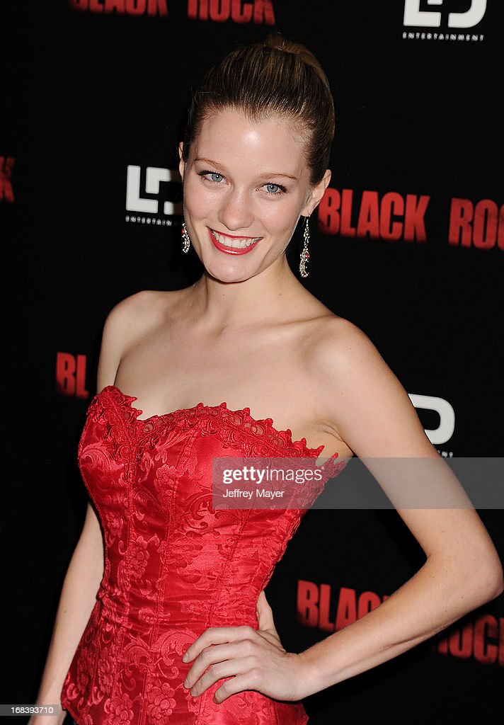 Actress Ashley Hinshaw attends the 'Black Rock' Premiere held at ArcLight Hollywood on May 8, 2013 in Hollywood, California.