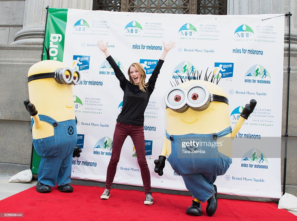 Actress <a gi-track='captionPersonalityLinkClicked' href=/galleries/search?phrase=Ashley+Hinshaw&family=editorial&specificpeople=7175518 ng-click='$event.stopPropagation()'>Ashley Hinshaw</a> attends the Melanoma Research Foundation's Miles for Melanoma 5k Run/Walk at Universal Studios Backlot on May 1, 2016 in Universal City, California.