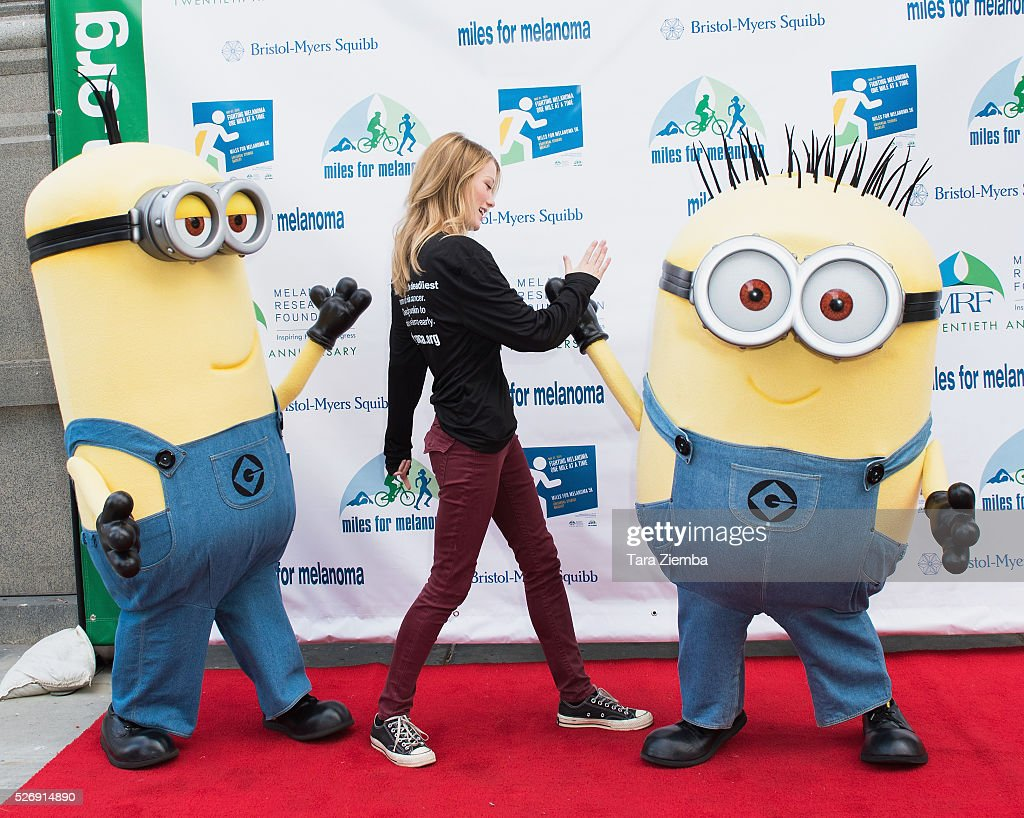 Actress Ashley Hinshaw attends the Melanoma Research Foundation's Miles for Melanoma 5k Run/Walk at Universal Studios Backlot on May 1, 2016 in Universal City, California.