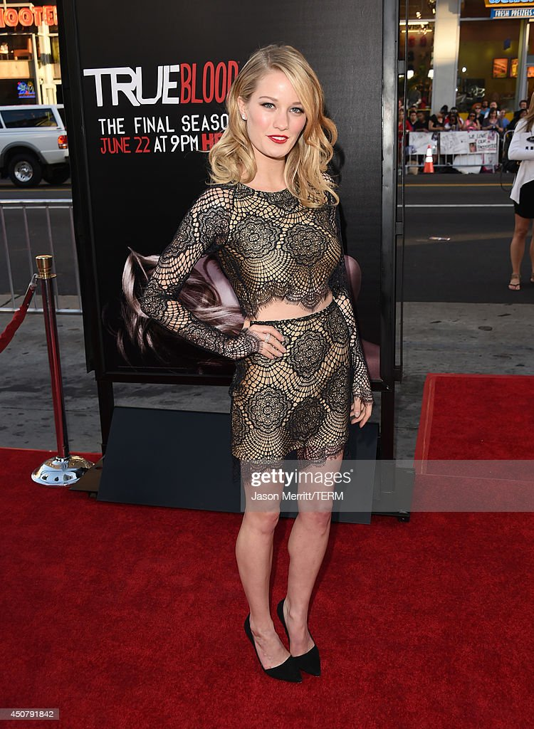Actress Ashley Hinshaw attends the premiere of HBO's 'True Blood' season 7 and final season at TCL Chinese Theatre on June 17, 2014 in Hollywood, California.