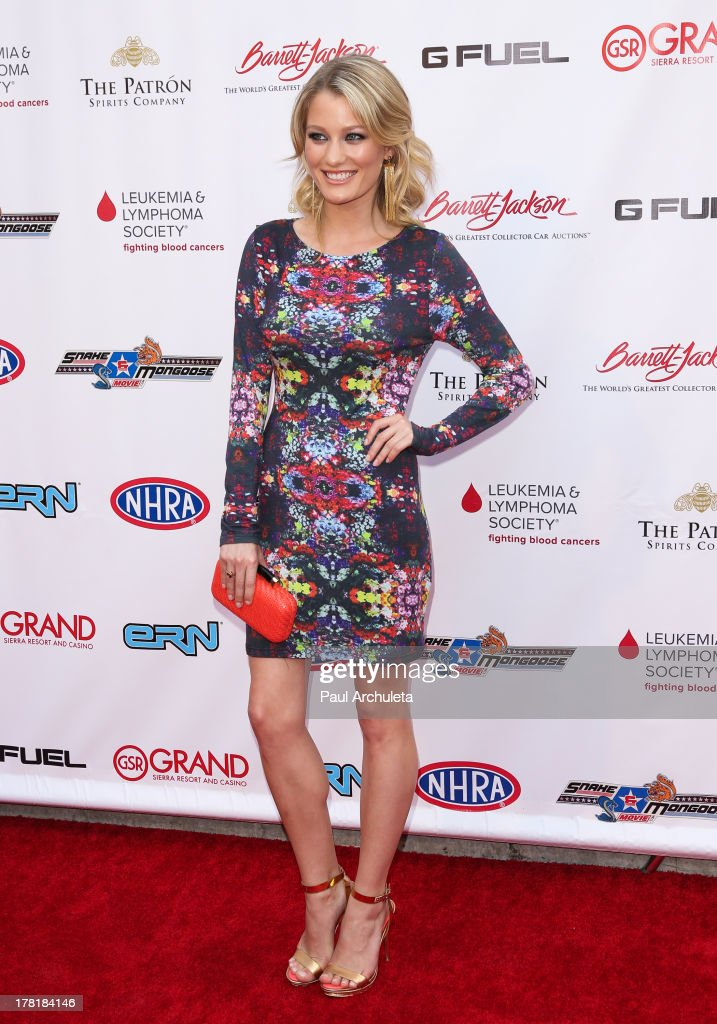 Actress <a gi-track='captionPersonalityLinkClicked' href=/galleries/search?phrase=Ashley+Hinshaw&family=editorial&specificpeople=7175518 ng-click='$event.stopPropagation()'>Ashley Hinshaw</a> attends the premiere of 'Snake & Mongoo$e' at the Egyptian Theatre on August 26, 2013 in Hollywood, California.