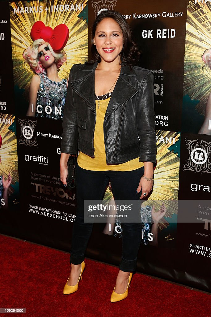 Actress Ashley Holliday attends the Markus + Indrani ICONS Book Launch Party at Merry Karnowsky Gallery on January 10, 2013 in Los Angeles, California.