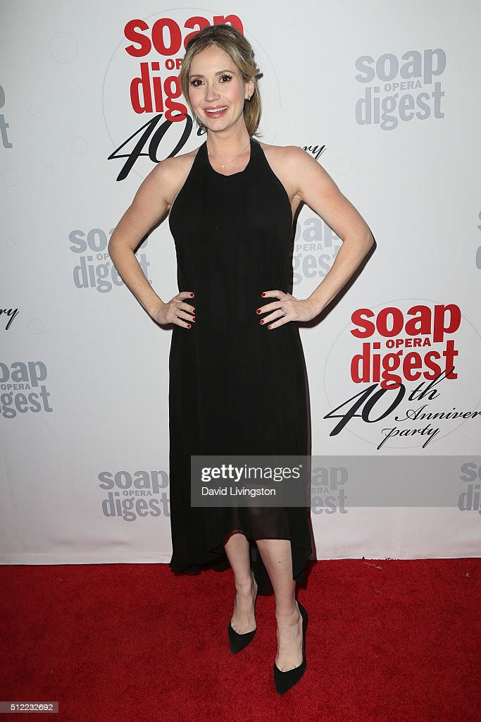 Actress <a gi-track='captionPersonalityLinkClicked' href=/galleries/search?phrase=Ashley+Jones&family=editorial&specificpeople=226927 ng-click='$event.stopPropagation()'>Ashley Jones</a> arrives at the 40th Anniversary of the Soap Opera Digest at The Argyle on February 24, 2016 in Hollywood, California.