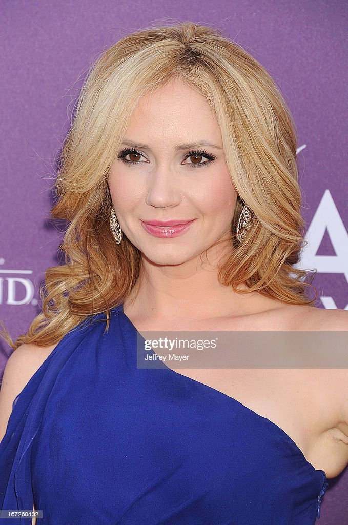 Actress Ashley Jones arrives at the 48th Annual Academy of Country Music Awards at the MGM Grand Garden Arena on April 7, 2013 in Las Vegas, Nevada.
