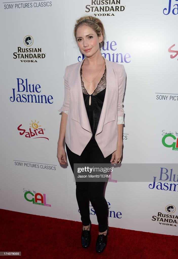 Actress Ashley Jones arrives at the premiere of 'Blue Jasmine' hosted by AFI & Sony Picture Classics at AMPAS Samuel Goldwyn Theater on July 24, 2013 in Beverly Hills, California.