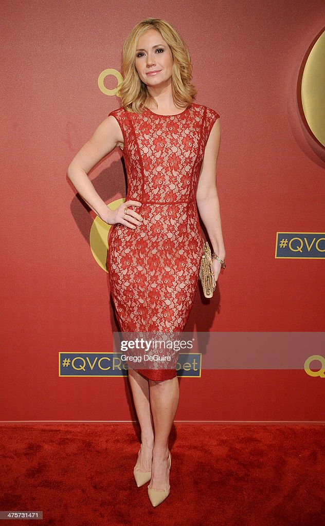 Actress Ashley Jones arrives at the QVC 5th Annual Red Carpet Style event at The Four Seasons Hotel on February 28, 2014 in Beverly Hills, California.