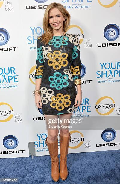 Actress Ashley Jones arrives at the Ubisoft and Oxygen present YOUR SHAPE featuring Jenny McCarthy launch event at Hyde Lounge on December 2 2009 in...
