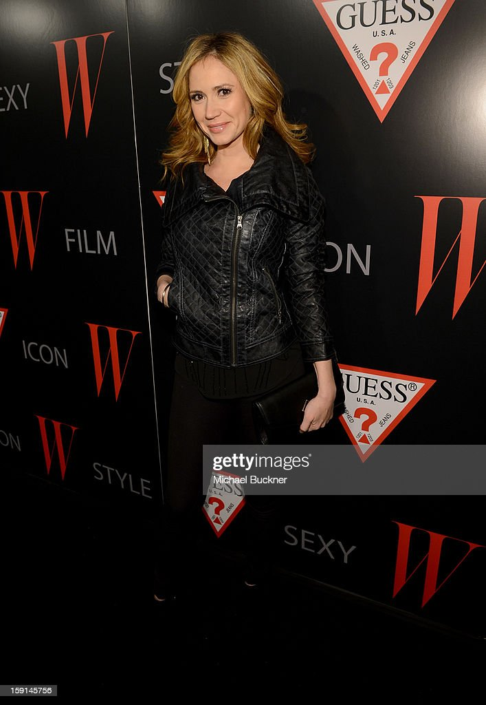 Actress Ashley Jones attends '30 Years Of Fashion And Film And The Next Generation Of Style Icons' with W Magazine and GUESS at Laurel Hardware on January 8, 2013 in West Hollywood, California.