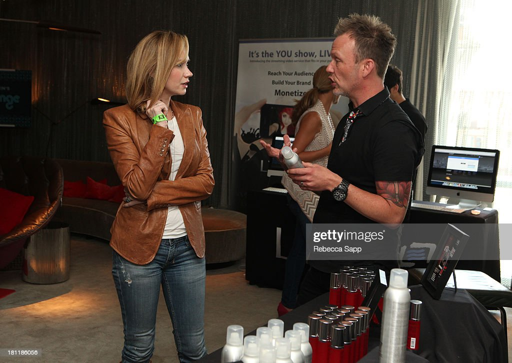 Actress Ashley Jones (L) attends Kari Feinstein's Pre-Emmy Style Lounge at the Andaz Hotel on September 19, 2013 in Los Angeles, California.