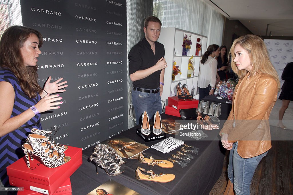 Actress Ashley Jones (R) attends Kari Feinstein's Pre-Emmy Style Lounge at the Andaz Hotel on September 19, 2013 in Los Angeles, California.