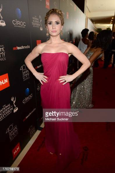 Actress Ashley Jones attends the 40th Annual Daytime Emmy Awards at the Beverly Hilton Hotel on June 16 2013 in Beverly Hills California...