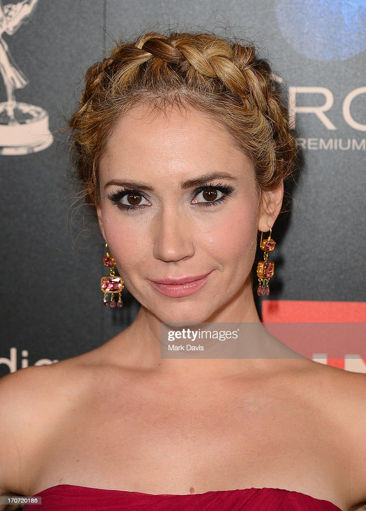 Actress <a gi-track='captionPersonalityLinkClicked' href=/galleries/search?phrase=Ashley+Jones&family=editorial&specificpeople=226927 ng-click='$event.stopPropagation()'>Ashley Jones</a> attends The 40th Annual Daytime Emmy Awards at The Beverly Hilton Hotel on June 16, 2013 in Beverly Hills, California.