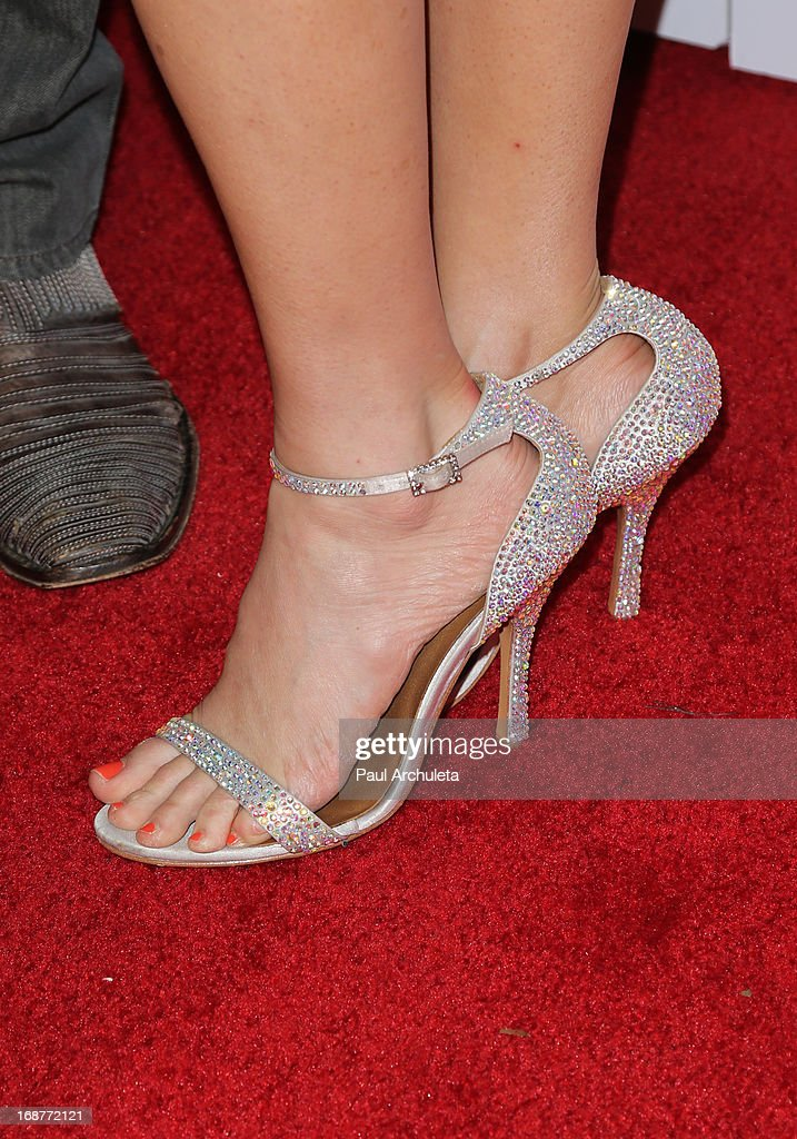 Actress Ashley Jones (Shoe Detail) attends the 'Dancing With The Stars' 300th episode after party on May 14, 2013 in Los Angeles, California.