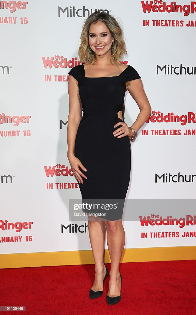 Actress <a gi-track='captionPersonalityLinkClicked' href=/galleries/search?phrase=Ashley+Jones&family=editorial&specificpeople=226927 ng-click='$event.stopPropagation()'>Ashley Jones</a> attends the premiere of Screen Gems' 'The Wedding Ringer' at the TCL Chinese Theatre on January 6, 2015 in Hollywood, California.