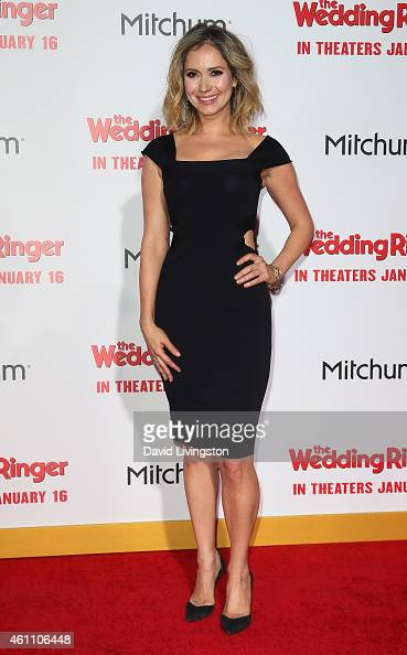 Actress Ashley Jones attends the premiere of Screen Gems' 'The Wedding Ringer' at the TCL Chinese Theatre on January 6 2015 in Hollywood California
