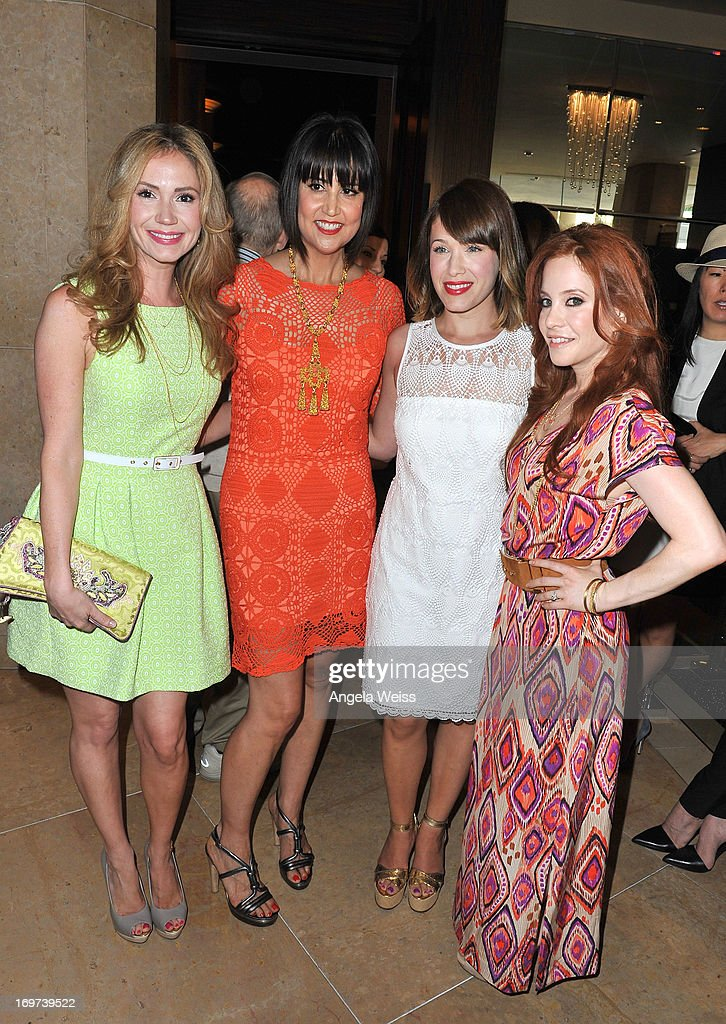 Actress Ashley Jones, designer Trina Turk, actress Marla Sokoloff and actress Amy Davidson attend Step Up Women's Network 10th annual Inspiration Awards at The Beverly Hilton Hotel on May 31, 2013 in Beverly Hills, California.