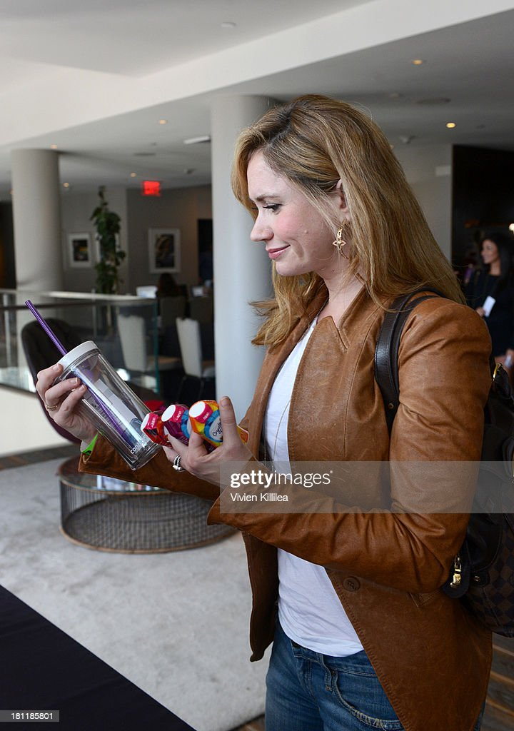 Actress Ashley Jones stops by Crystal Light Liquid as they toast the Emmys at Kari Feinstein's Pre-Emmy Style Lounge at the Andaz Hotel on September 19, 2013 in Los Angeles, California.