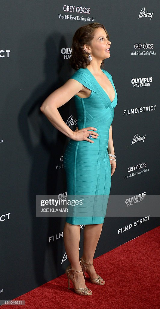 Actress Ashley Judd arrives at the premiere of FilmDistrict's 'Olympus Has Fallen' at ArcLight Cinemas Cinerama Dome on March 18, 2013 in Hollywood, California. AFP PHOTO / JOE KLAMAR