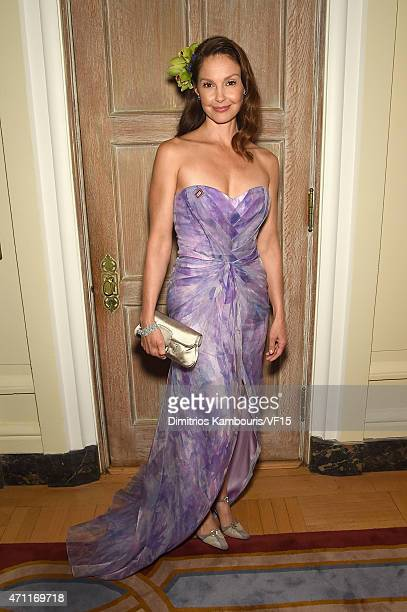 Actress Ashley Judd attends the Bloomberg Vanity Fair cocktail reception following the 2015 WHCA Dinner at the residence of the French Ambassador on...