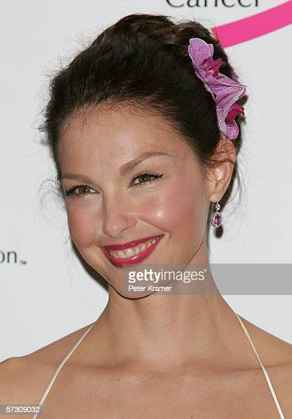 Actress Ashley Judd attends the Breast Cancer Research Foundation's 'Very Hot Pink Party' at the Waldorf Astoria on April 10th 2006 in New York City