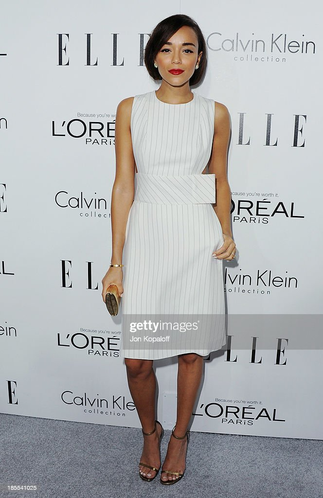 Actress <a gi-track='captionPersonalityLinkClicked' href=/galleries/search?phrase=Ashley+Madekwe&family=editorial&specificpeople=5526423 ng-click='$event.stopPropagation()'>Ashley Madekwe</a> arrives at ELLE Celebrates 20th Annual Women In Hollywood Event at Four Seasons Hotel Los Angeles at Beverly Hills on October 21, 2013 in Beverly Hills, California.