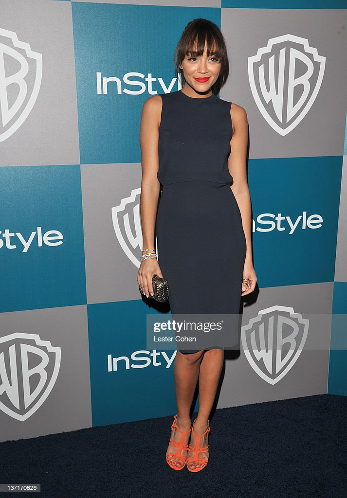 Actress Ashley Madekwe arrives at the 13th Annual Warner Bros. and InStyle Golden Globe After Party held at The Beverly Hilton hotel on January 15, 2012 in Beverly Hills, California.