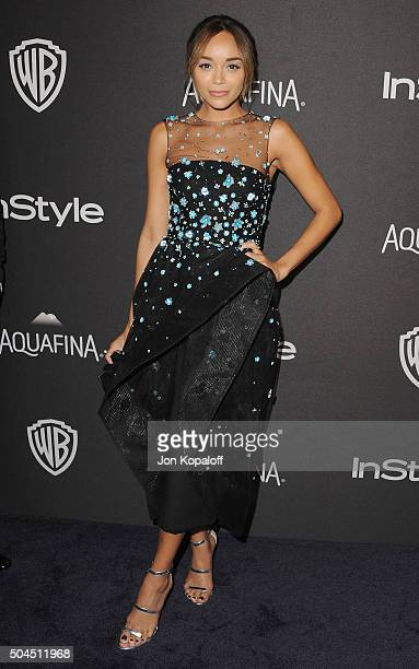 Actress Ashley Madekwe arrives at the 2016 InStyle And Warner Bros 73rd Annual Golden Globe Awards PostParty at The Beverly Hilton Hotel on January...