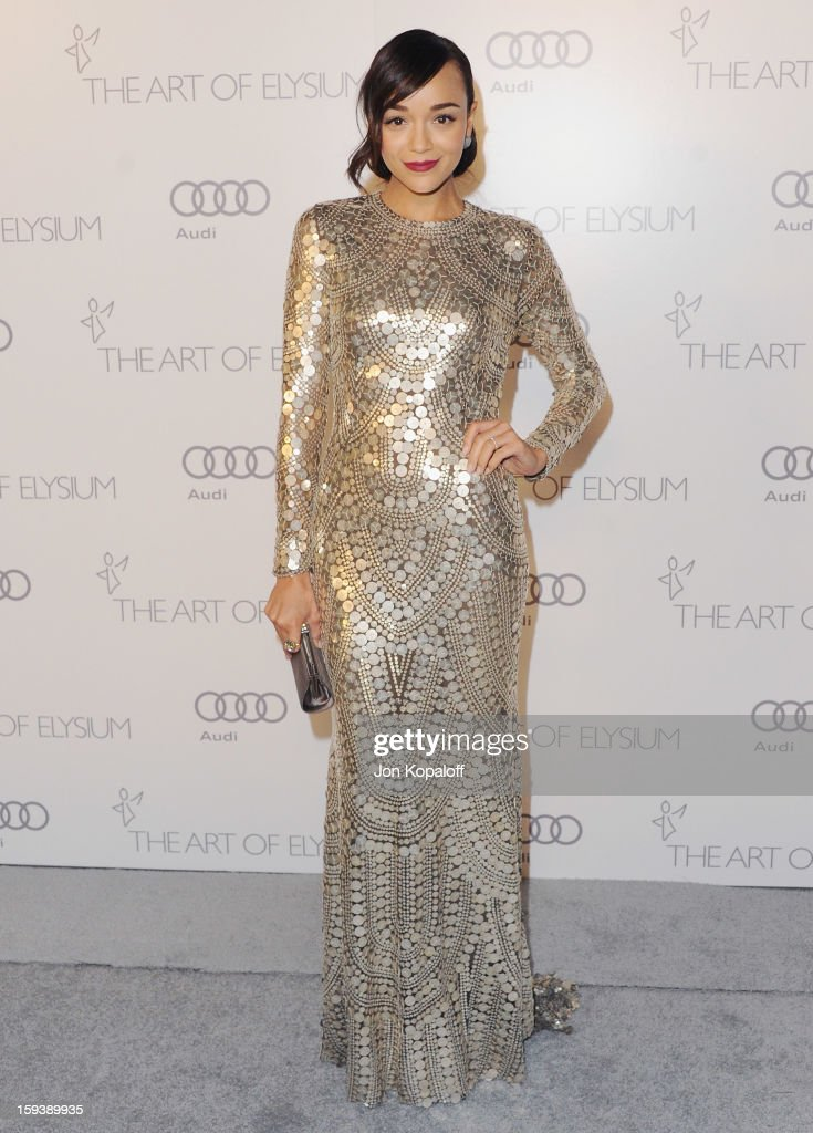 Actress Ashley Madekwe arrives at the Art Of Elysium's 6th Annual Heaven Gala on January 12, 2013 in Los Angeles, California.