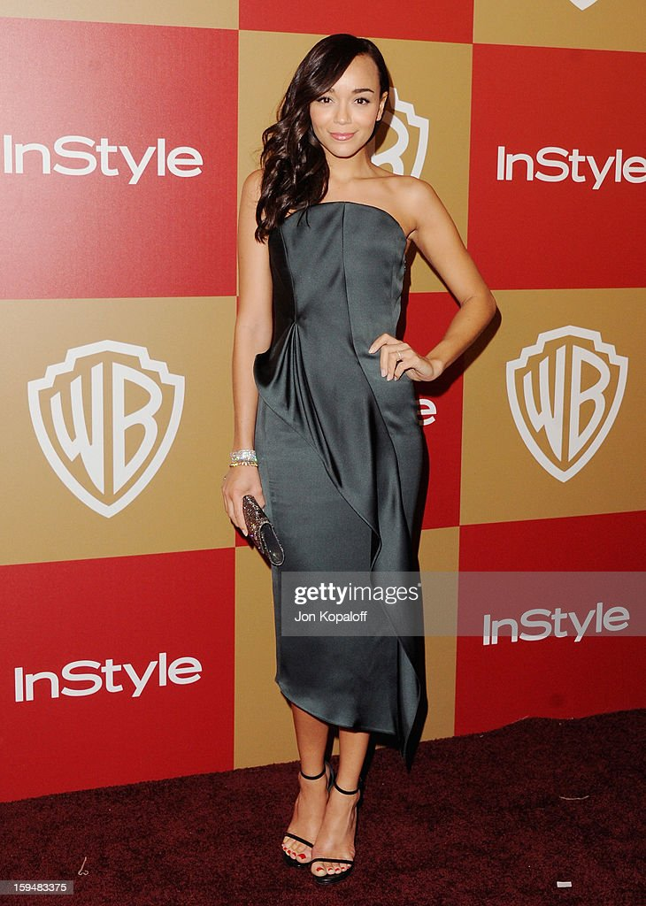 Actress Ashley Madekwe arrives at the InStyle And Warner Bros. Golden Globe Party at The Beverly Hilton Hotel on January 13, 2013 in Beverly Hills, California.