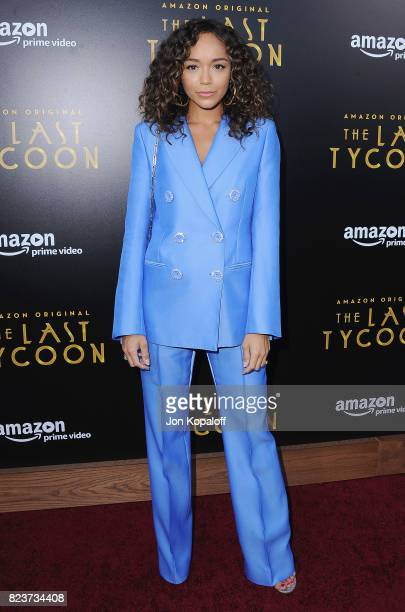Actress Ashley Madekwe arrives at the Premiere Of Amazon Studios' 'The Last Tycoon' at the Harmony Gold Preview House and Theater on July 27 2017 in...