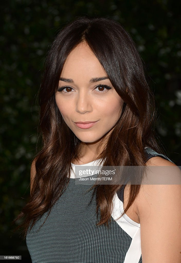 Actress Ashley Madekwe arrives at the Topshop Topman LA Opening Party at Cecconi's West Hollywood on February 13, 2013 in Los Angeles, California.