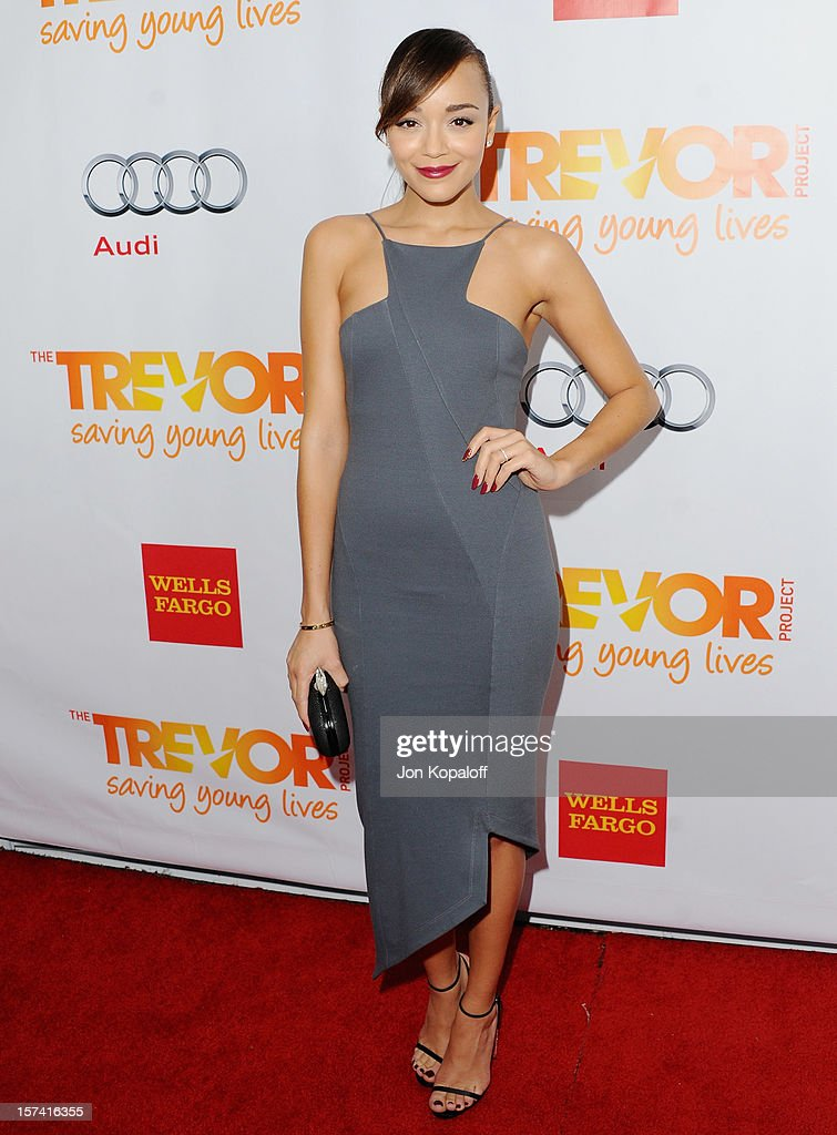Actress Ashley Madekwe arrives at The Trevor Project's 2012 'Trevor Live' Event Honoring Katy Perry at Hollywood Palladium on December 2, 2012 in Hollywood, California.