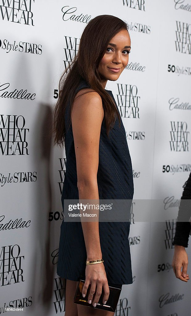 Actress <a gi-track='captionPersonalityLinkClicked' href=/galleries/search?phrase=Ashley+Madekwe&family=editorial&specificpeople=5526423 ng-click='$event.stopPropagation()'>Ashley Madekwe</a> arrives at the Who What Wear And Cadillac's 50 Most Fashionable Women Of 2013 Event at The London Hotel on October 24, 2013 in West Hollywood, California.
