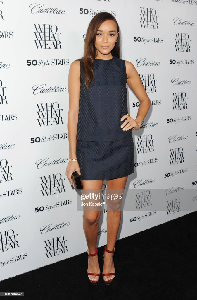 Actress <a gi-track='captionPersonalityLinkClicked' href=/galleries/search?phrase=Ashley+Madekwe&family=editorial&specificpeople=5526423 ng-click='$event.stopPropagation()'>Ashley Madekwe</a> arrives at Who What Wear And Cadillac's 50 Most Fashionable Women Of 2013 at The London Hotel on October 24, 2013 in West Hollywood, California.