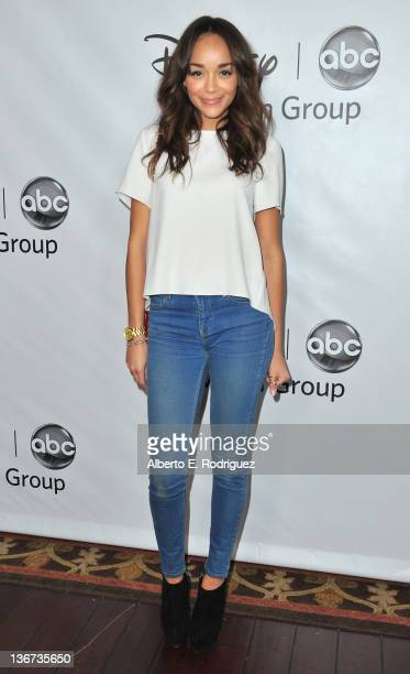Actress Ashley Madekwe arrives to the Disney ABC Television Group's 'TCA Winter Press Tour' on January 10 2012 in Pasadena California